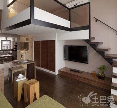 装修案例:30平米小户型变一室一厅实用家-中国搜索
